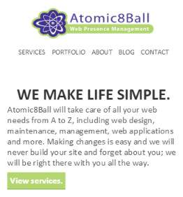 Atomic8Ball Mobile Website